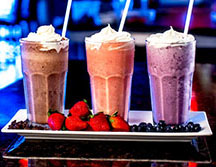 Milkshakes fresh fruit