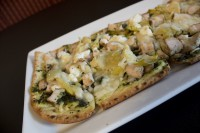 pesto flatbread appetizer cafe