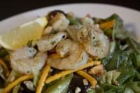 add shrimp chicken steak to a salad lunch menu