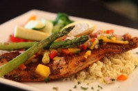 grilled seafood steak chicken options entree menu