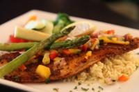 grilled seafood steak chicken options entree menu