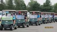 Golf cart parade charity tournament