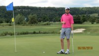 golfer on the 9th hole charity support