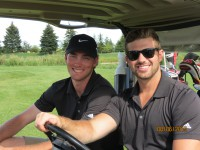 handsome smiles ready for golf