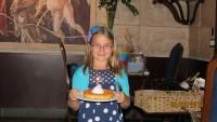 little girl special birthday restaurant celebration