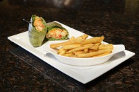 chicken caesar wrap fries light lunch menu