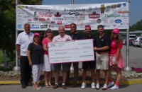 symposium golf tournament charity executive breast cancer cheque presentation 2014  20 000 from 2013