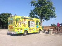 ice cream truck stop for charity golf
