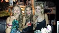 beautiful best friends martini night smiles