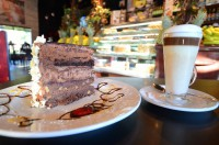 cafe latte coffeebreak chocolate cake ancaster ontario