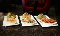 wraps three chicken vegetarian crispy chicken fries sweet potato salad light lunch grilled options