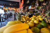 fresh fruit restaurant counter