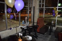 musician entertains markham restaurant opening