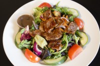 add steak chicken salmon to salad mississauga restaurant