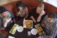 friends meet at north york restaurant