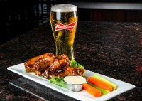 appetizer wings and beer rectangular
