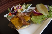 ajax ontario symposium cafe cheeseburger with bacon