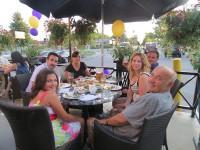 symposium cafe georgetown ontario family eating on patio
