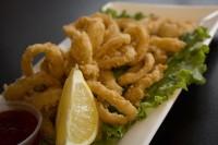 brantford ontario calamari appetizer plate oakville ontario symposium cafe