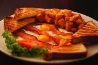 brantford ontario symposium cafe bacon and eggs breakfast plate