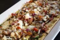 vegetarian flat bread appetizer mississauga ontario symposium cafe
