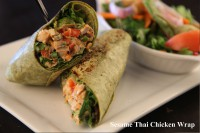 sesame thai chicken wrap