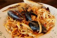 seafood pasta dinner