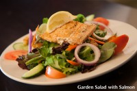 garden salad with salmon