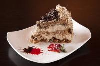mocha crunch cake slice