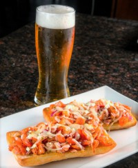 restauarnt appetizer bruschetta & beer