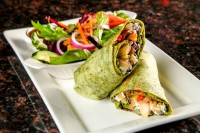 restaurant vegetarian wrap