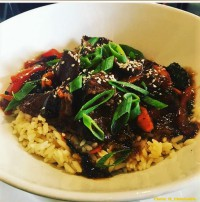 teriyaki steak rice