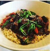 teriyaki steak rice