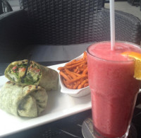 delicious lunch wrap and raspberry fruit freezie