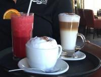 delicious cappuccino latte fresh drinks