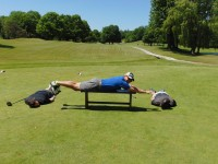 planking on the course