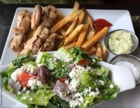 – chicken souvlaki ajax restaurant lunch menu