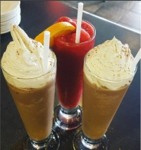 iced cappuccinos ice cream whipped cream