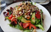 vegetarian restaurant lunch menu delicious salad