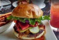 delicious burger restaurant dinner menu