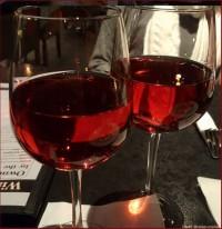 celebrating with wine