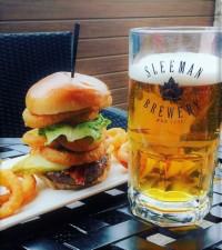 beer burger combo restaurant patio