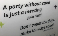 inspirational quotes cake party restaurant