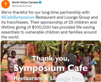 world vision charity symposium cafe thornhill
