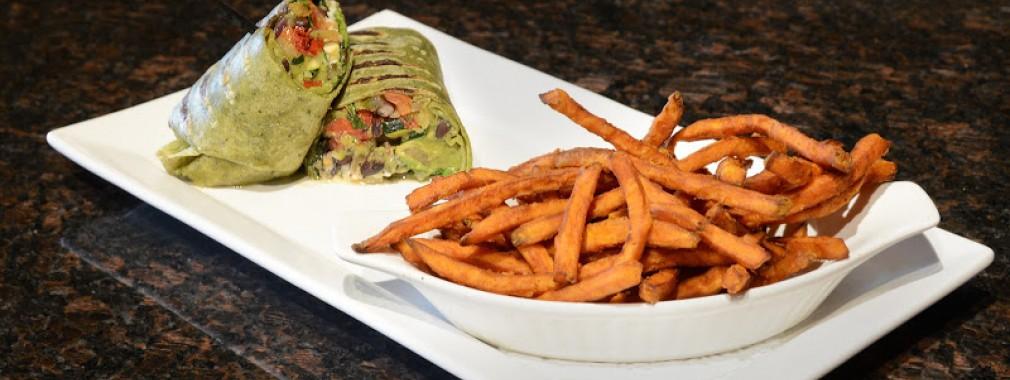 light meal vegetarian wrap fries sandwich restaurant menu london ontario