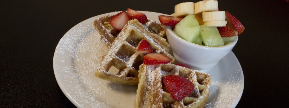 waffle fresh fruit dessert menu north york restaurant