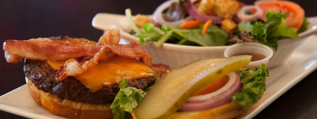 burgers steaks chicken seafood vegetarian menu options guelph restaurant