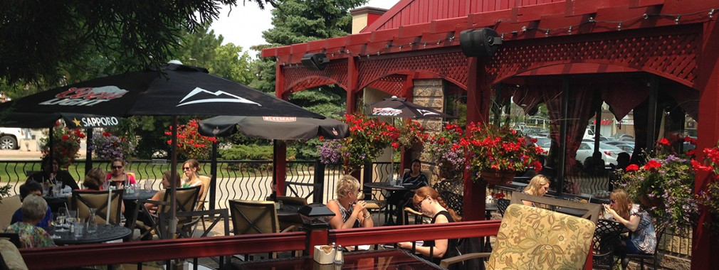 beautiful outdoor patio dining margarita mojito guelph restaurant