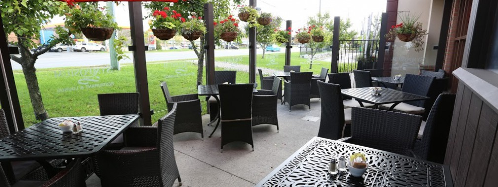 beautiful outdoor patio dining margarita mojito drinks markham ontario