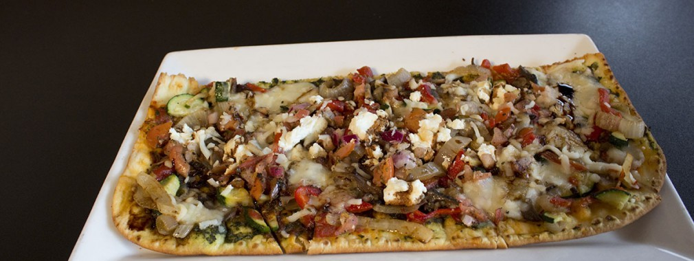 grilled vegetable flatbread pesto chicken vegetarian menu options woodbridge restaurant